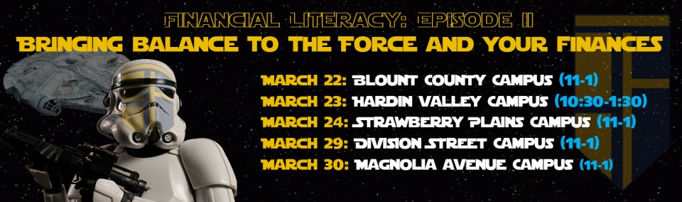 Financial Literacy event with Star Wars theme